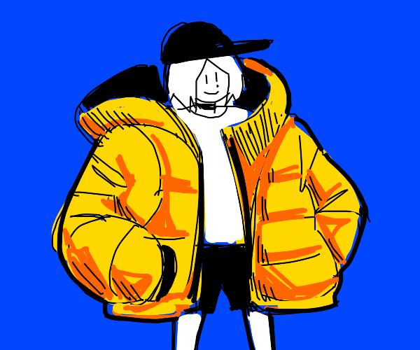 super cool guy w big jacket
