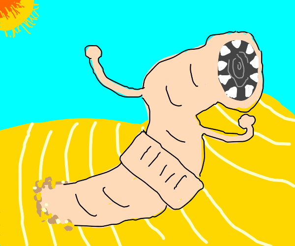 A Dune earthworm with arms