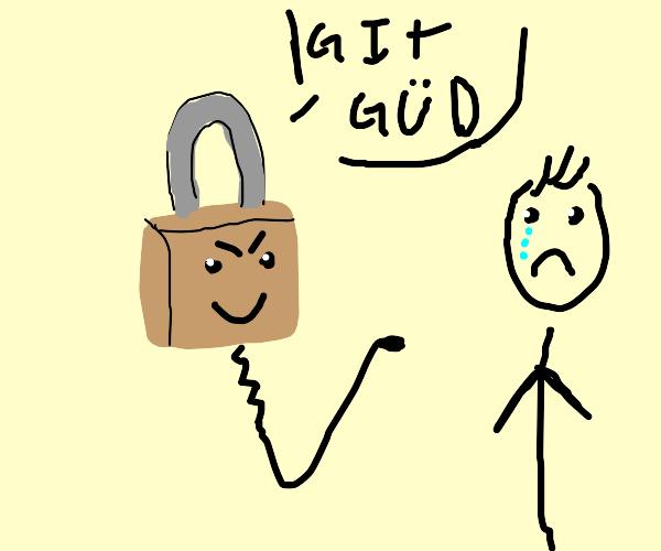 noob lock-picker gets picked on by lock