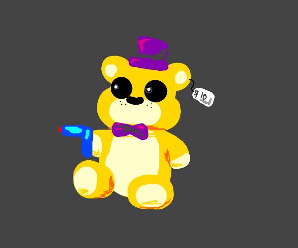 $10 teddy bear with water gun