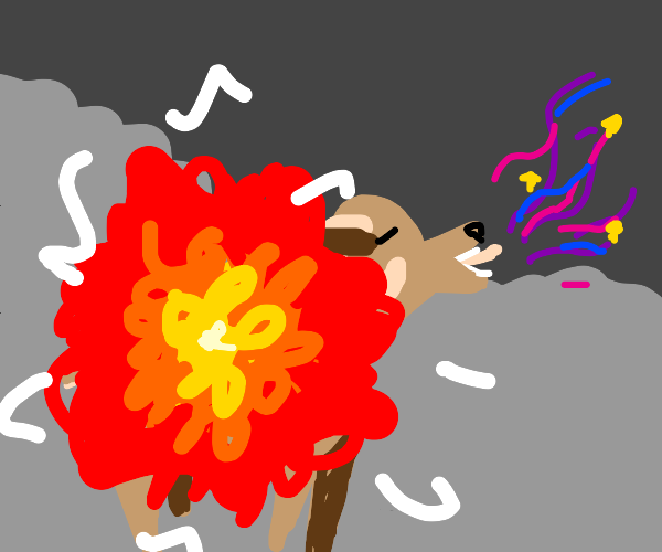 Magical exploding mountain goat!