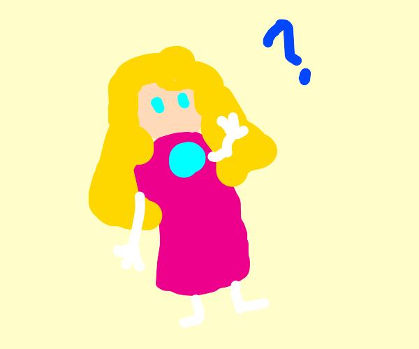 princess peach confused