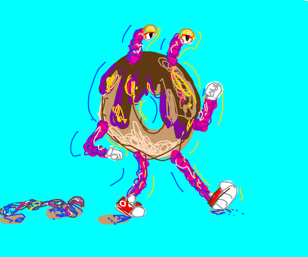 weird donut is free to go