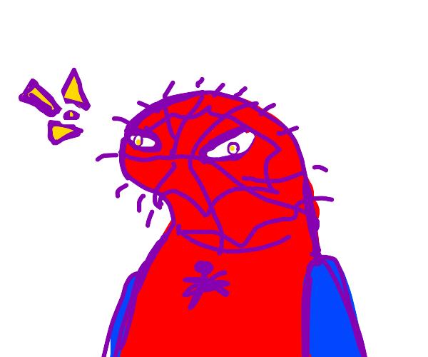 spoderman is shocked