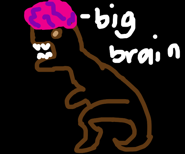 A big-brain T-rex