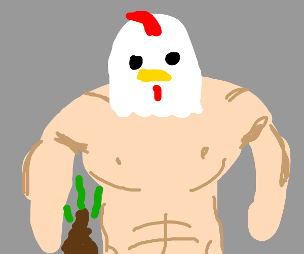 Buff chicken pooping in your house