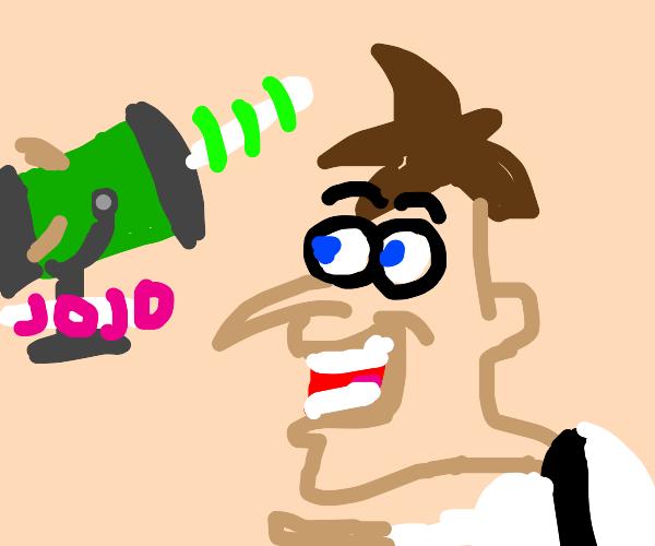 Doofenshmirtz has a JoJo-inator