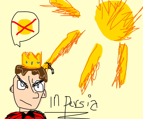 Prince of Persia is angry at scorching sun