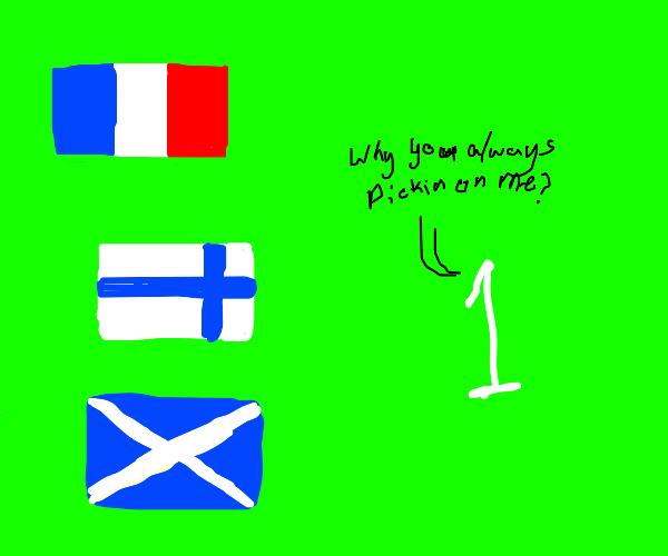 All the Other Flags Be Pickin' on the Little1