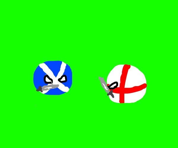 Englishman fights a Scotsman