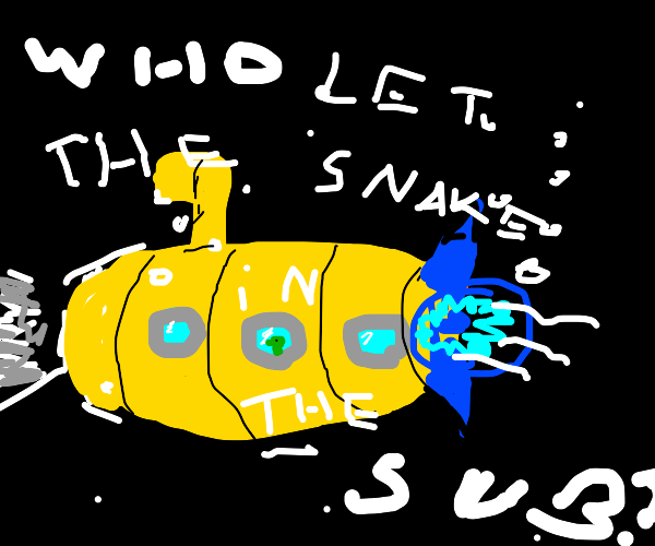 Sea snakes invade a submarine
