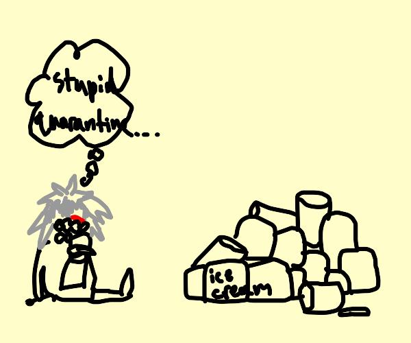 Kaneki is binge eating because of quarantine