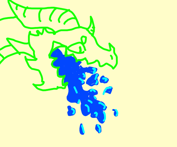 a water breathing dragon