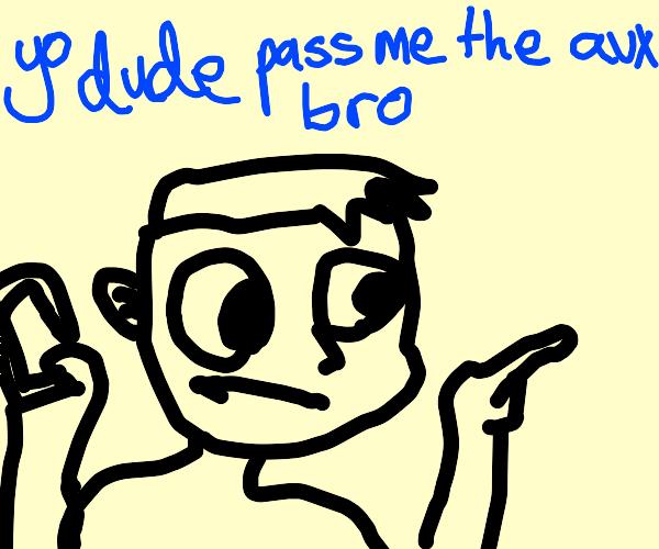 Yo dude pass me the aux bro