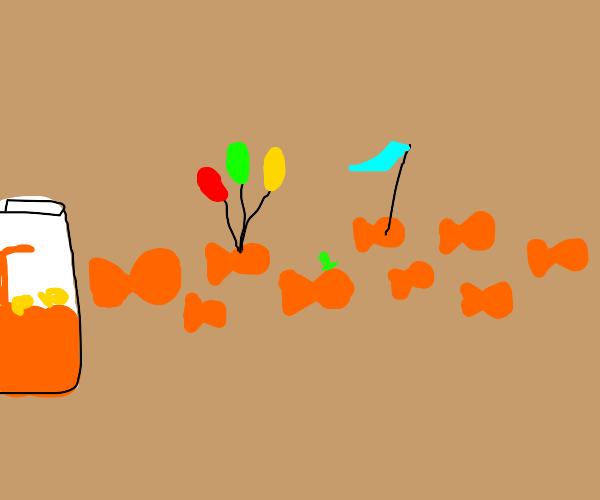 A Goldfish snack parade