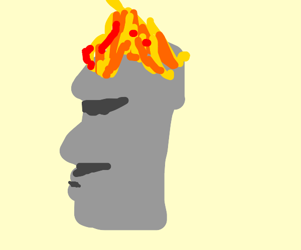 Easter rock thing is on fire oh no