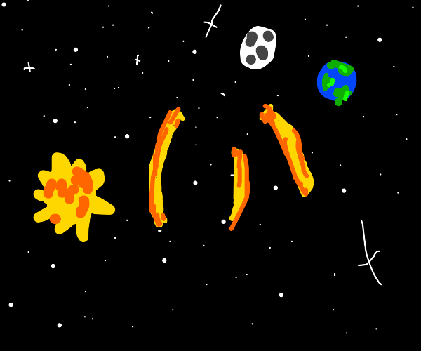 Fries flying on space