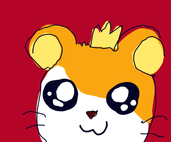 Cute Hamtaro with a teeny tiny crown