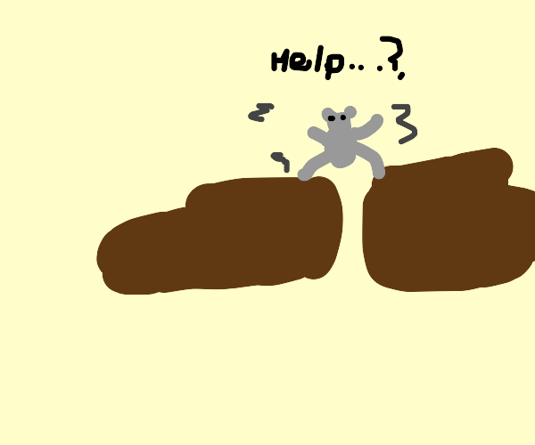 mouse with big brown shoes