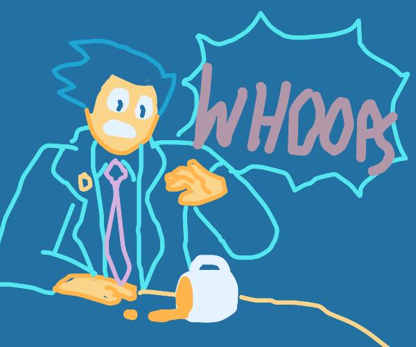 (Ace Attorney)Phoenix Spills Coffee