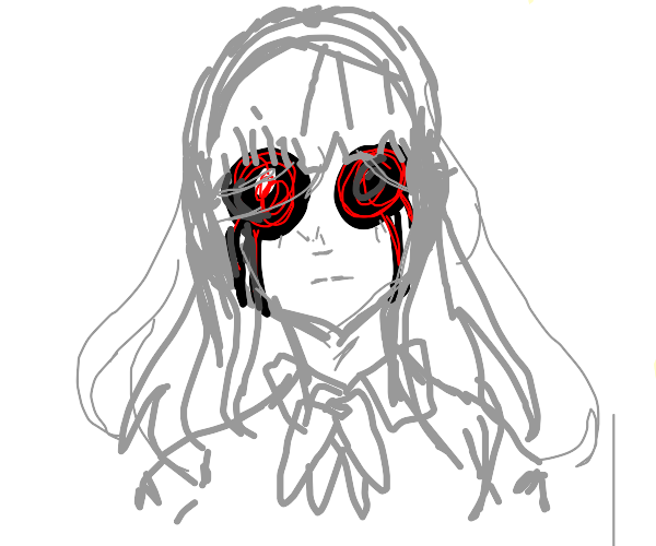 Eyeless anime girl.