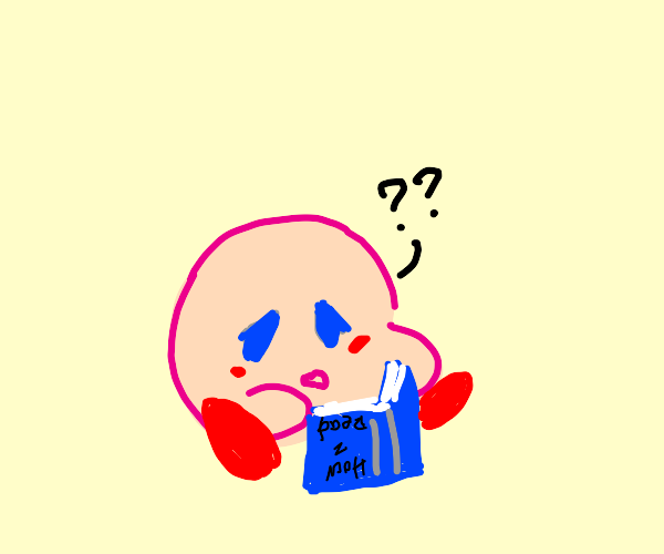 kirby cant read