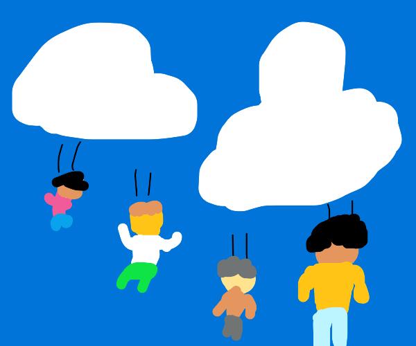 Raining people