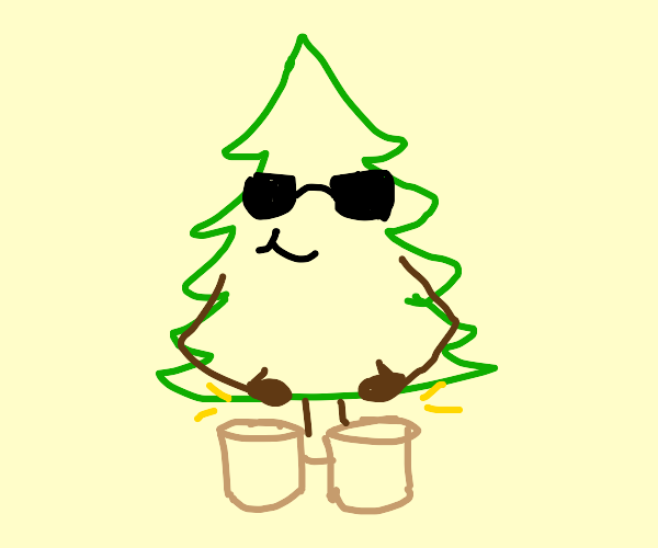 Tree playing the bongo
