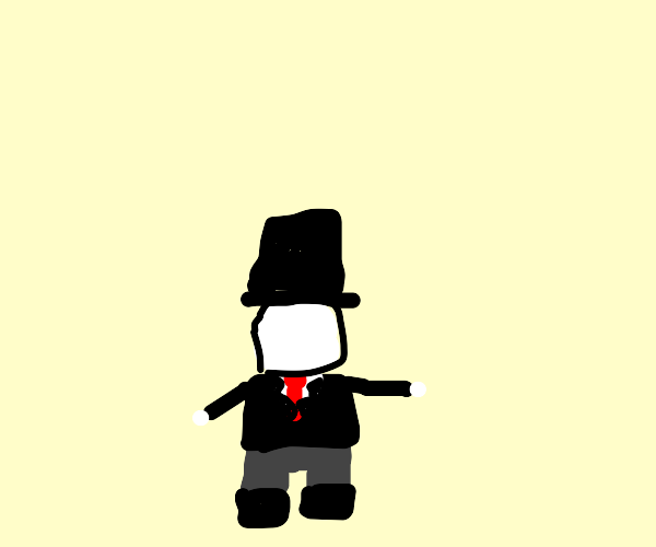 Knock off slenderman with a top hat