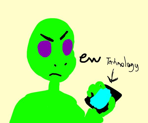 alien despises technology