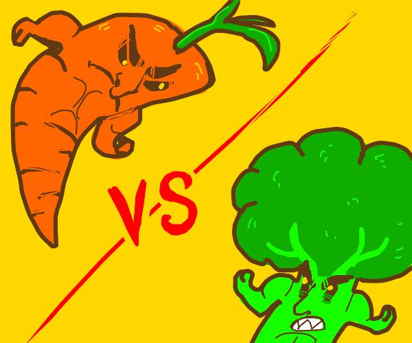 carrot vs broccoli