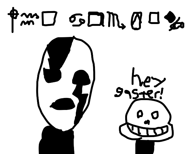 ghaster from undertale has alzemiers