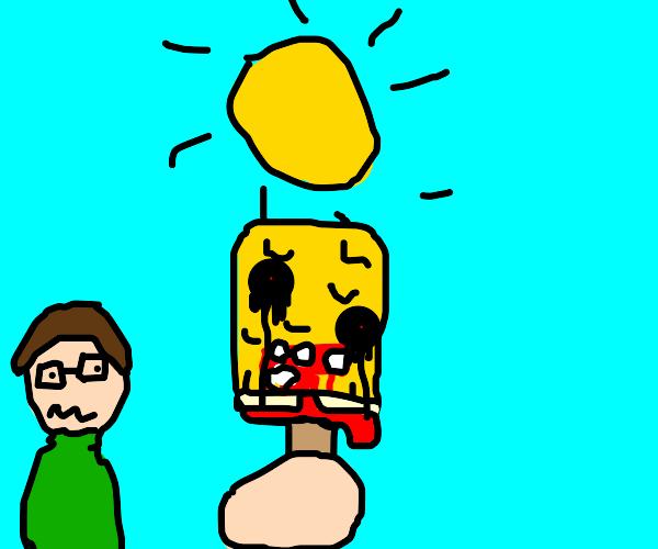 Spongebob ice cream pop