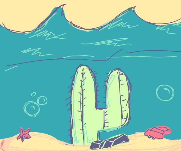 Underwater cactus