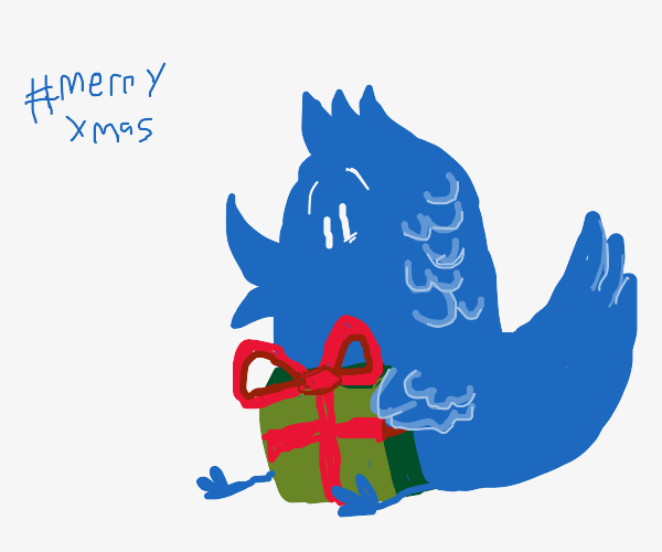 twitter bird leaves you a present