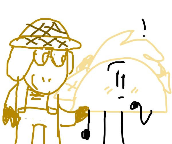 Farmer with taco!