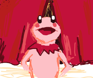Kermit the frog but he's kirby