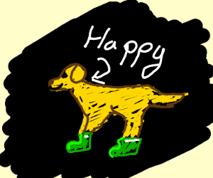 Happy doge w/ green boots on