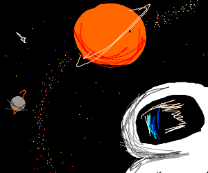 Lonley Astronaut in Space