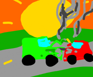 Car crash (also the sun is much closer)