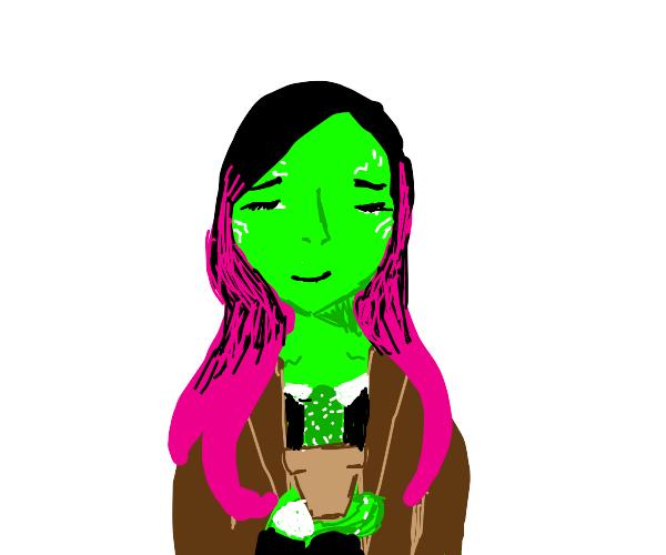 Gamora's pet cactus