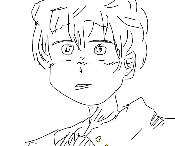 Shoked Anime Dude