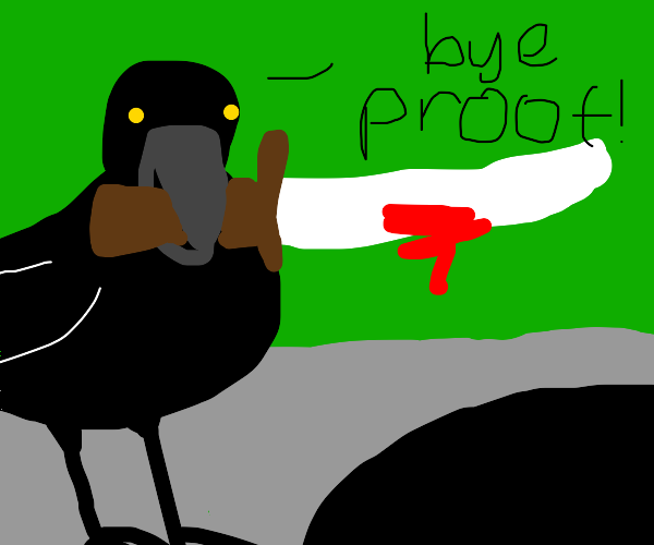 Crow disposing the evidence