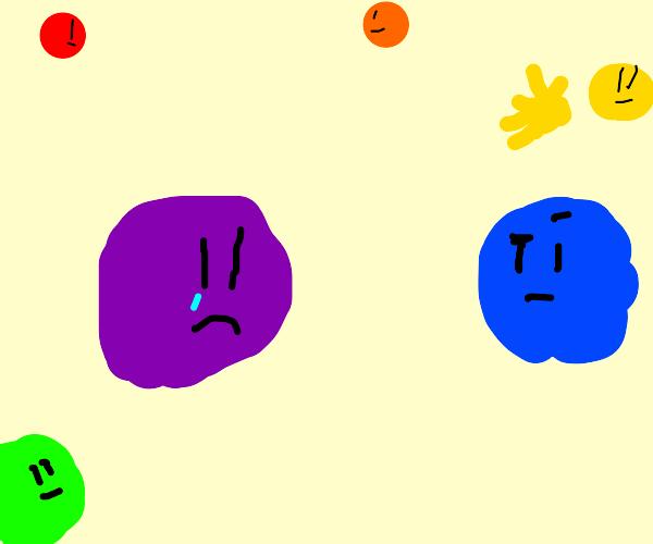 purple is sad