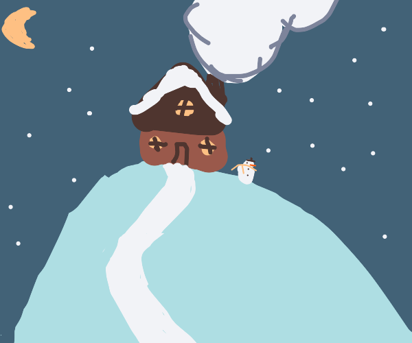 house on the top of a hill