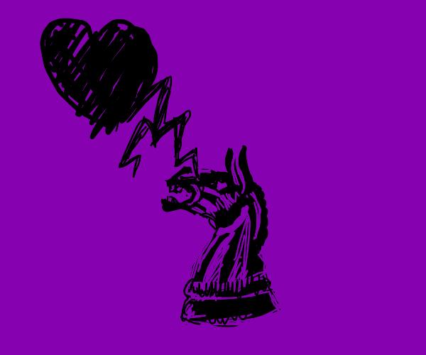 Love struck knight