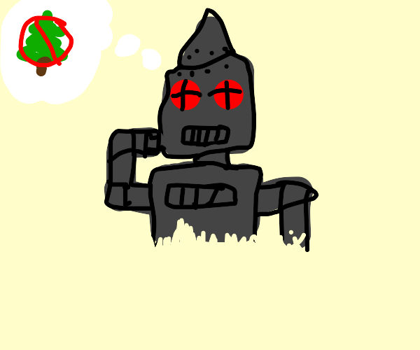 Robot Grinch is thinking