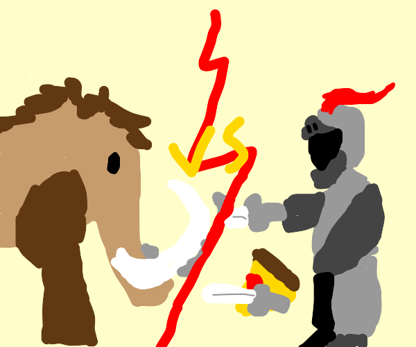 mammoth versus knight & pizza