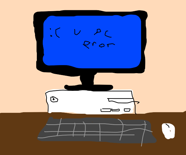 blue screen of death but its made by a crippl