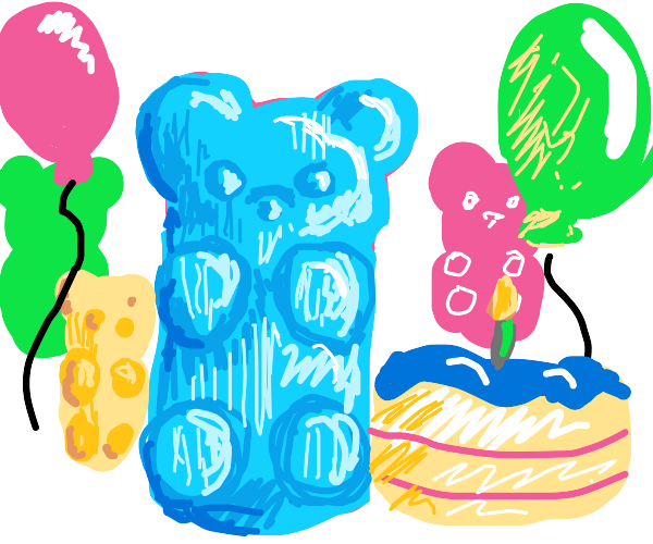 Gummy bear birthday party